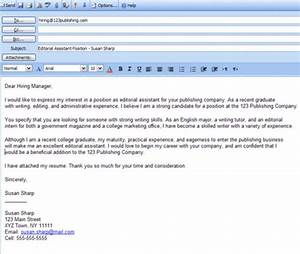 how to write an email that will get you that job you39re With email application