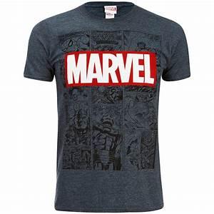 T Shirt Pour Homme : t shirt pour homme marvel mono comic gris bleu ~ Farleysfitness.com Idées de Décoration