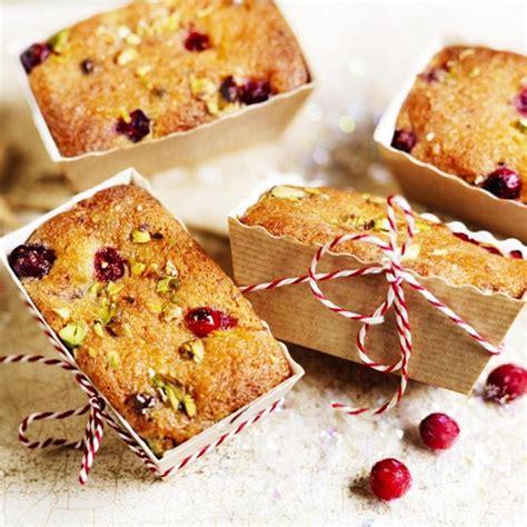 mini cranberry pistachio orange drizzle loaf cakes