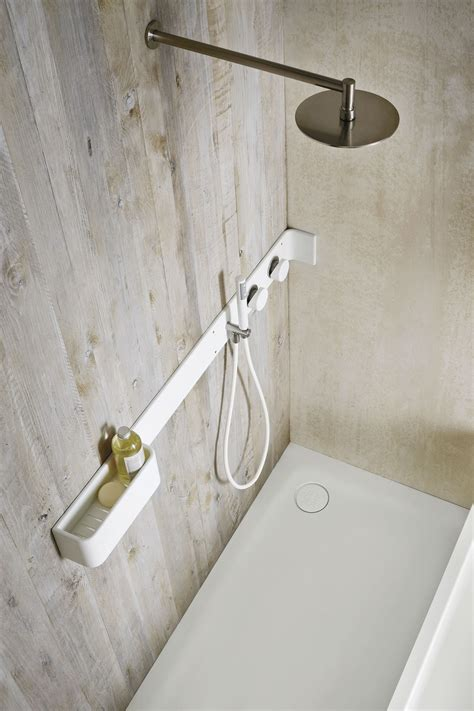 corian walls corian 174 bathroom wall shelf shower tap ergo nomic