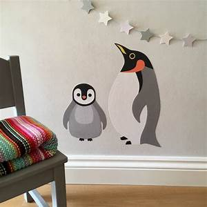 penguin wall stickers by chameleon wall art With cute penguin wall decals ideas