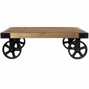 Table Basse Sur Roulette : table basse en bois avec roulettes achat vente table basse table basse en bois avec ro ~ Teatrodelosmanantiales.com Idées de Décoration