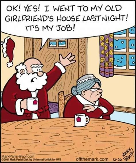 funny mr and mrs claus cartoon jokes memes pictures