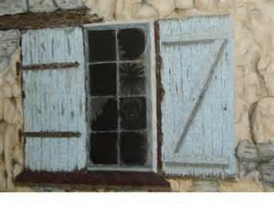 tableau peinture maison hante volet fenetres vieux mur With peinture d une maison 4 peinture tableau maison