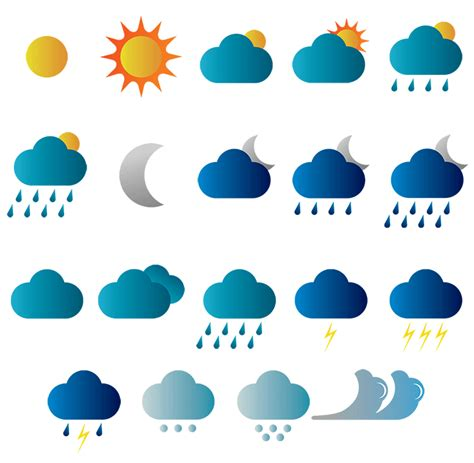 Free Vector Picture by Free Vector Weather Icons Pixelsmarket