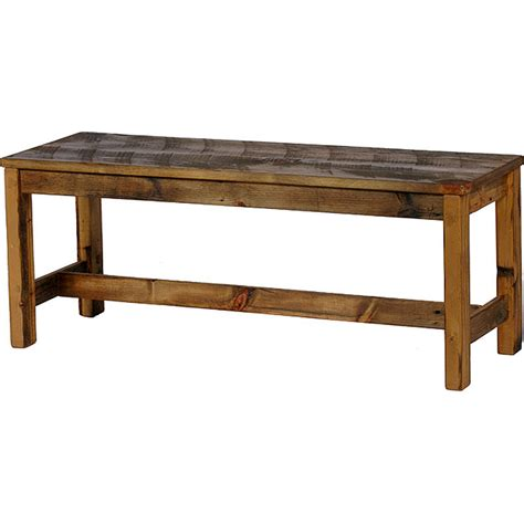 Weathered Timber Bench Seat  Nc Rustic