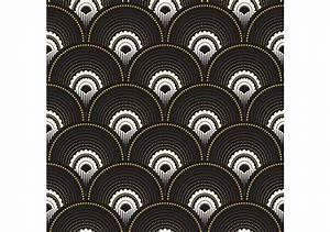 Papier Peint Noir Et Doré : rouleau de papier peint han 39 i noir et dor ~ Melissatoandfro.com Idées de Décoration