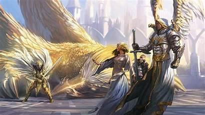 Knight Angel Fantasy Armor Magic Might Wings