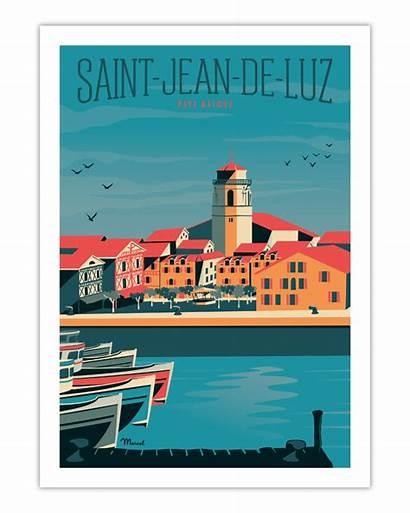 Saint Luz Jean Poster Marcel Posters Port