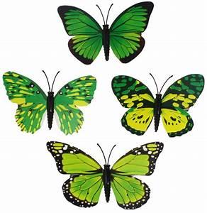 Schmetterlinge Aus Papier : deko schmetterlinge papier gr n mit clip 8 cm eur 0 99 ~ Lizthompson.info Haus und Dekorationen