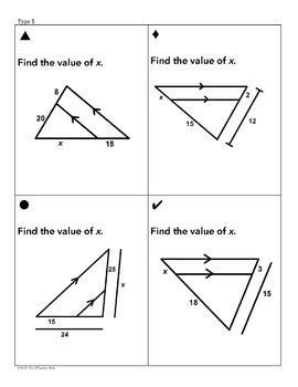 triangle similarity sum em activity by mrs e teaches math tpt