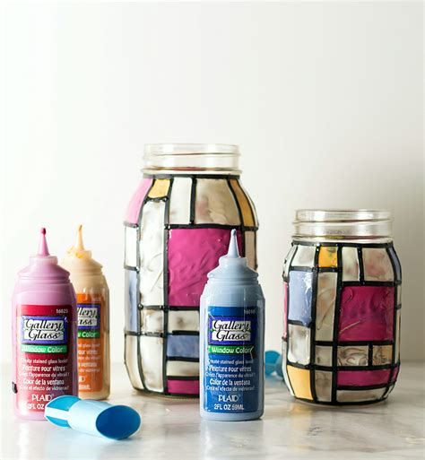 craft jars butterfly stained glass craft blissfully domestic