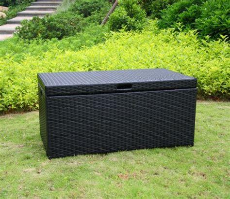 110 gallon resin deck box color black deck boxes