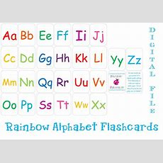 Printable Alphabet Flashcards Instant Download By