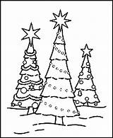 Tree Christmas Pages Coloring Printable Pdf Address sketch template