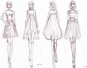 Fashion Design Sketches Of Dresses Black And White 2015