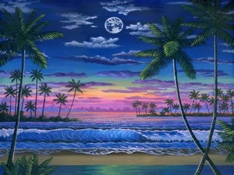 hawaiian sunset painting pictures   images