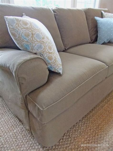 custom made sofa slipcovers custom made denim slipcover in color burlap a smart