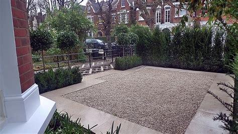 contemporary front garden design modern front garden design victorian mosaic formal clapham wandsworth yew trees balham pebbles