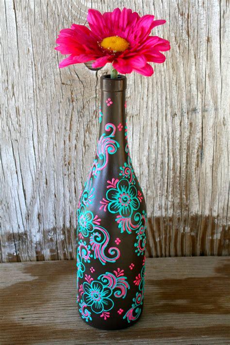 Wine Vase by Summer Sale Painted Wine Bottle Vase Up Cycled
