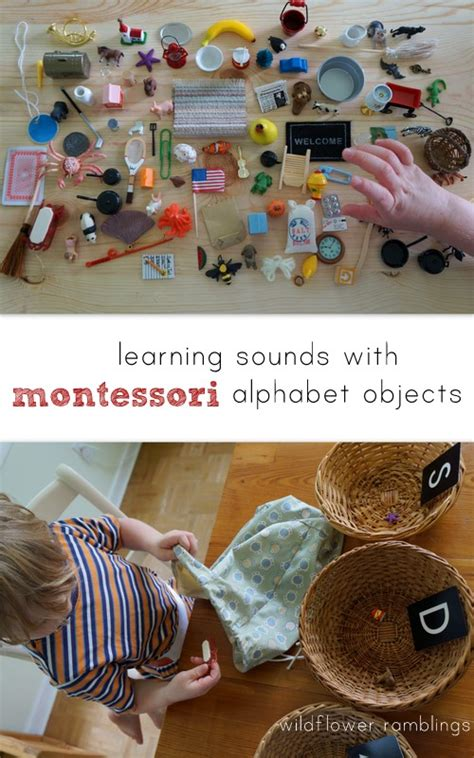 learning sounds  montessori alphabet objects