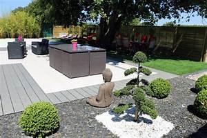Aménagement Jardin Extérieur : amenagement jardin exterieur patio accueil design et mobilier ~ Preciouscoupons.com Idées de Décoration