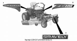 Gravely 915132  000101 -   2350 Zt Parts Diagram For Decals