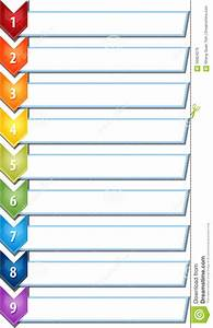 Nine Blank Business Diagram Chevron List Illustration