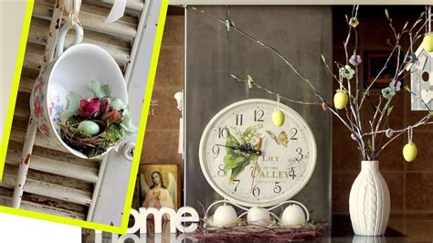Spring Decor With Nests And Birdhouses Bird Nest Easter