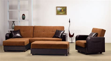 Brown Sectional Sleeper Sofa by Two Tone Rich Brown Contemporary Sectional Sleeper Sofa