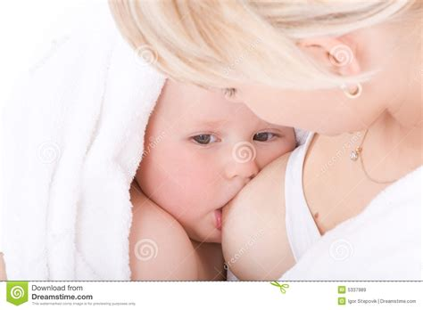 Mother Breastfeeding Her Baby Girl Stock Photo Hot Girls