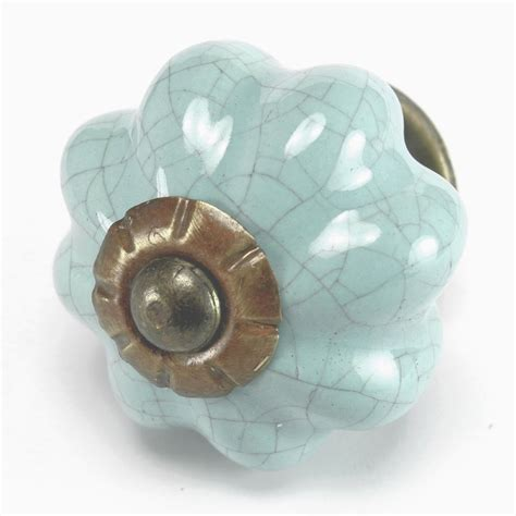 ceramic knobs for kitchen cabinets 6 pc blue crackle ceramic kitchen cabinet knobs drawer 8094