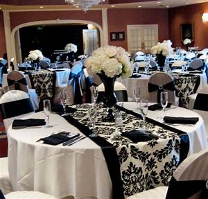 black and white wedding reception With black and white wedding ideas reception