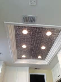 ceiling lights kitchen ideas remodel fluorescent light box in kitchen don 39 t like tin with pot lights but might be open to