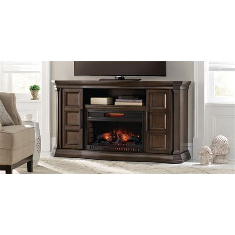 electric fireplace tv stand home depot home decorators collection park 60 in bow front tv