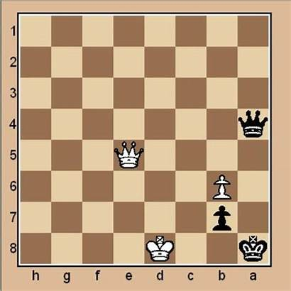 Endgame Chess Middlegame Becomes Checkmate Owing Threat