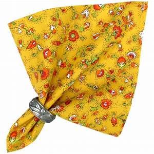 Serviette De Table En Tissu : serviette de table proven ale valdr me jaune motif champ tre valdrome ~ Teatrodelosmanantiales.com Idées de Décoration