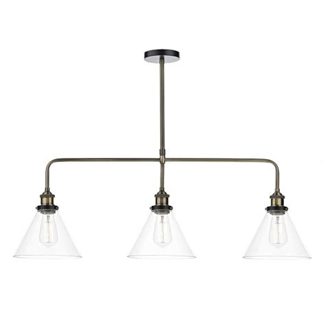 ex display kitchen island vintage style light fitting three in a row pendant light