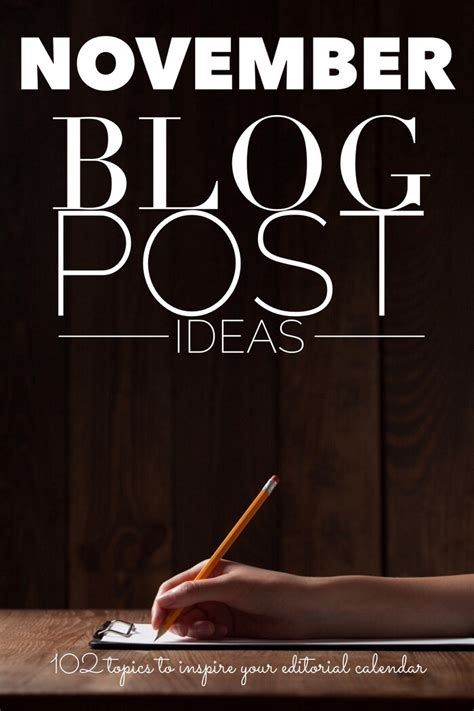 blog posts ideas writing prompts  november