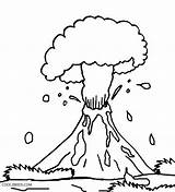 Volcano Coloring Pages Eruption Preschool Explosion Drawing Volcanic Hawaiian Printable Hawaii Cool2bkids Getdrawings Popular sketch template