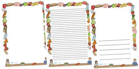 printable food border designs images menu borders