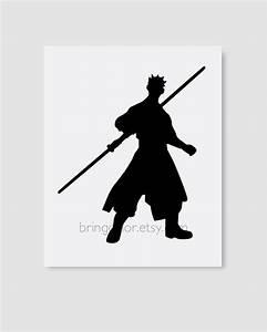 Star Wars Darth Maul Silhouette Wall Art Print 8X10 by ...