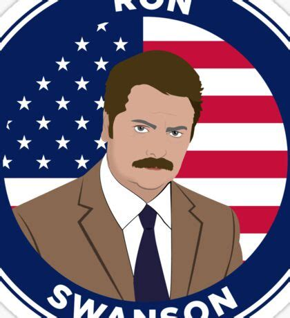 Ron Swanson Stickers Red Bubble