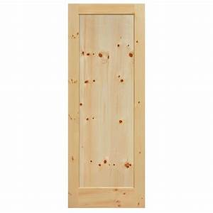 Masonite 40 in x 84 in knotty pine 1 panel shaker flat for 40 inch interior barn door