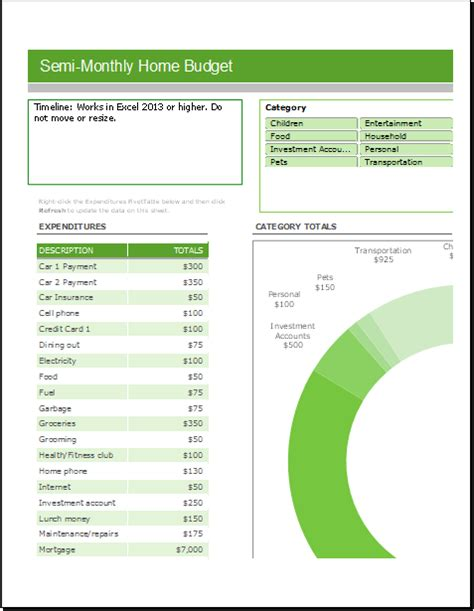 monthly budget template sheets semi monthly home budget sheet for excel excel templates