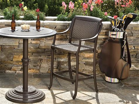belmar woven cast aluminum patio furniture tropitone