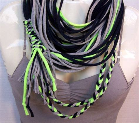seperate seattle seahawks necklace scarf blue gray