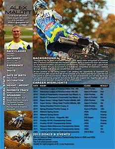 Motocross sponsor resume resume ideas for Free motocross resume template