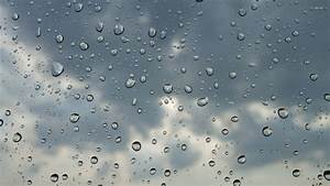 Raindrops and clouds wallpaper - 588882