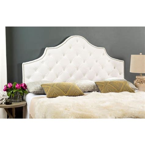 white king headboard safavieh arebelle white king headboard mcr4037h k the